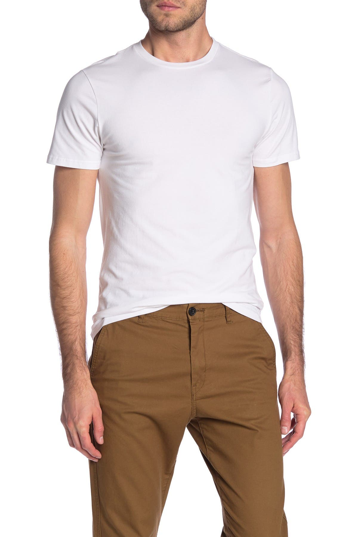 Nordstrom Rack Stretch Cotton Crew Neck T-Shirt - Pack of 3 at Nordstrom Rack