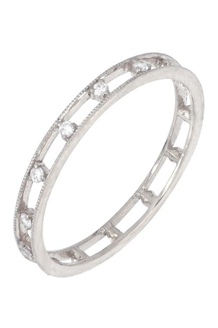 Image of Bony Levy 18K White Gold Scattered Diamond Open Ring - 0.07 ctw