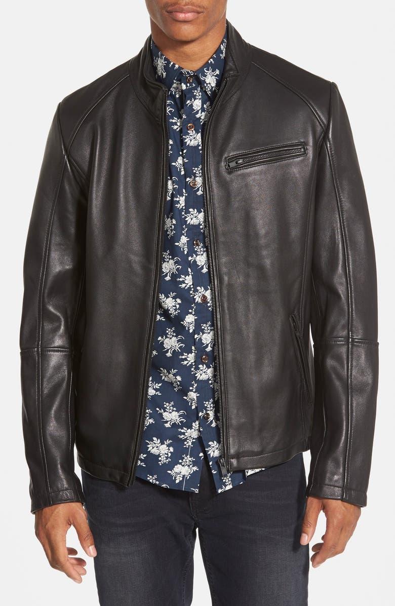 63039dfcb 'Norwell' Black Leather Moto Jacket