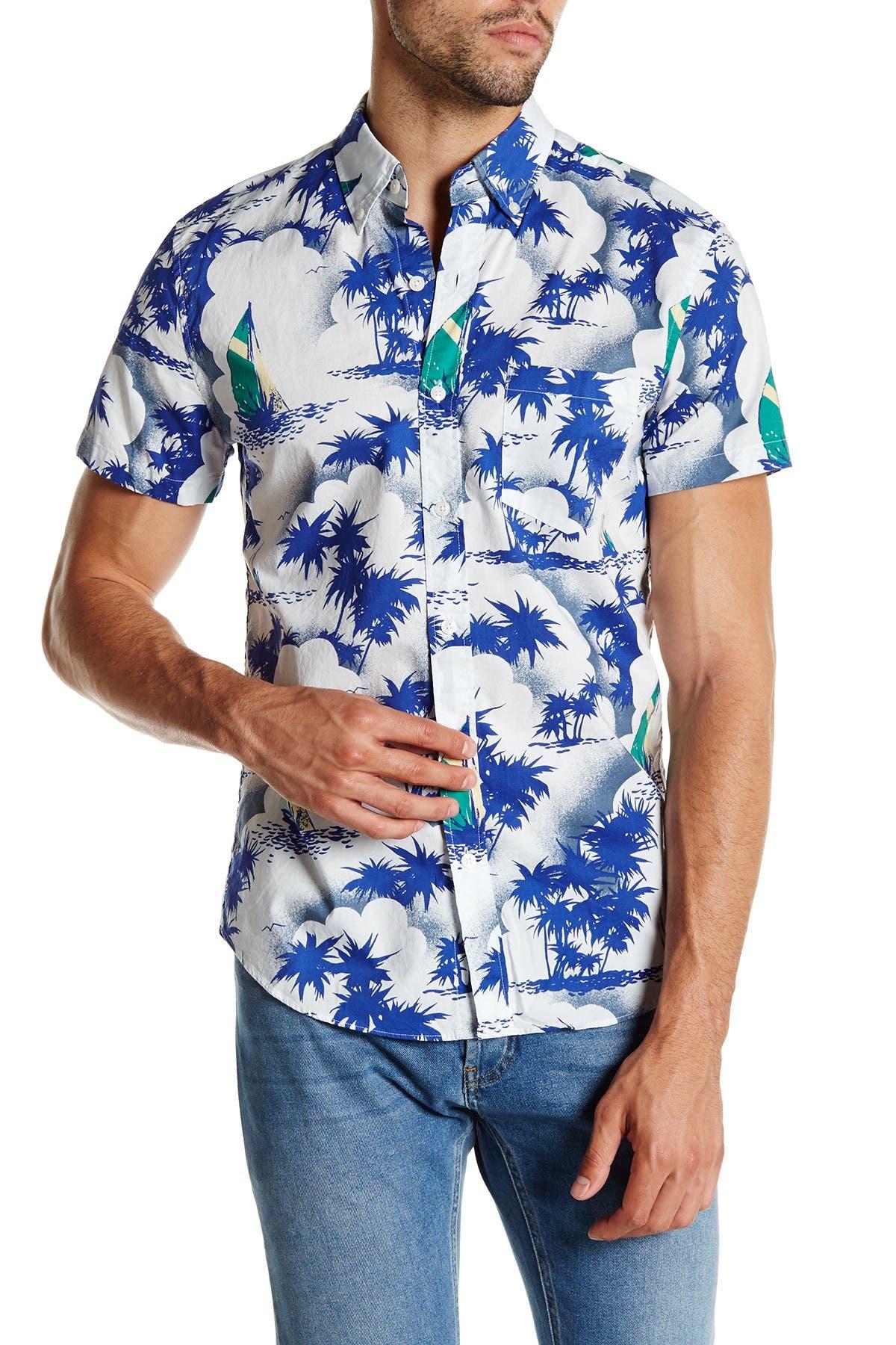 Image of J. Crew Factory Slim Fit Printed Short Sleeve Shirt