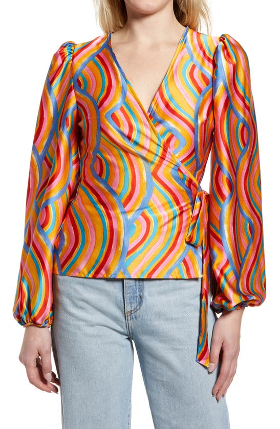 Never Fully Dressed Tops RAINBOW SWIRL WRAP TOP