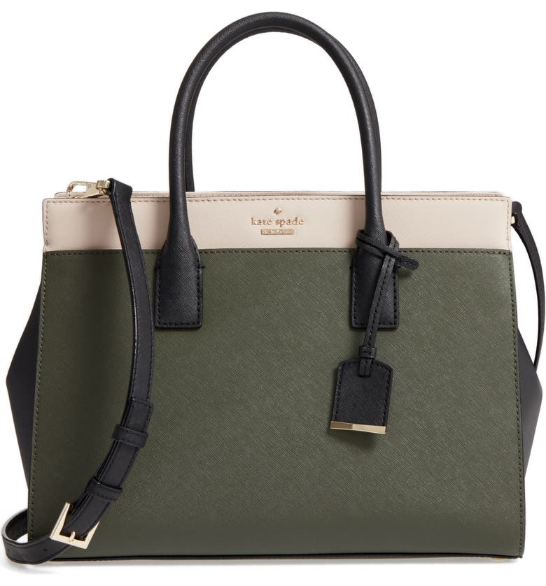KATE SPADE NEW YORK cameron street - candace leather satchel, Main, color, 301