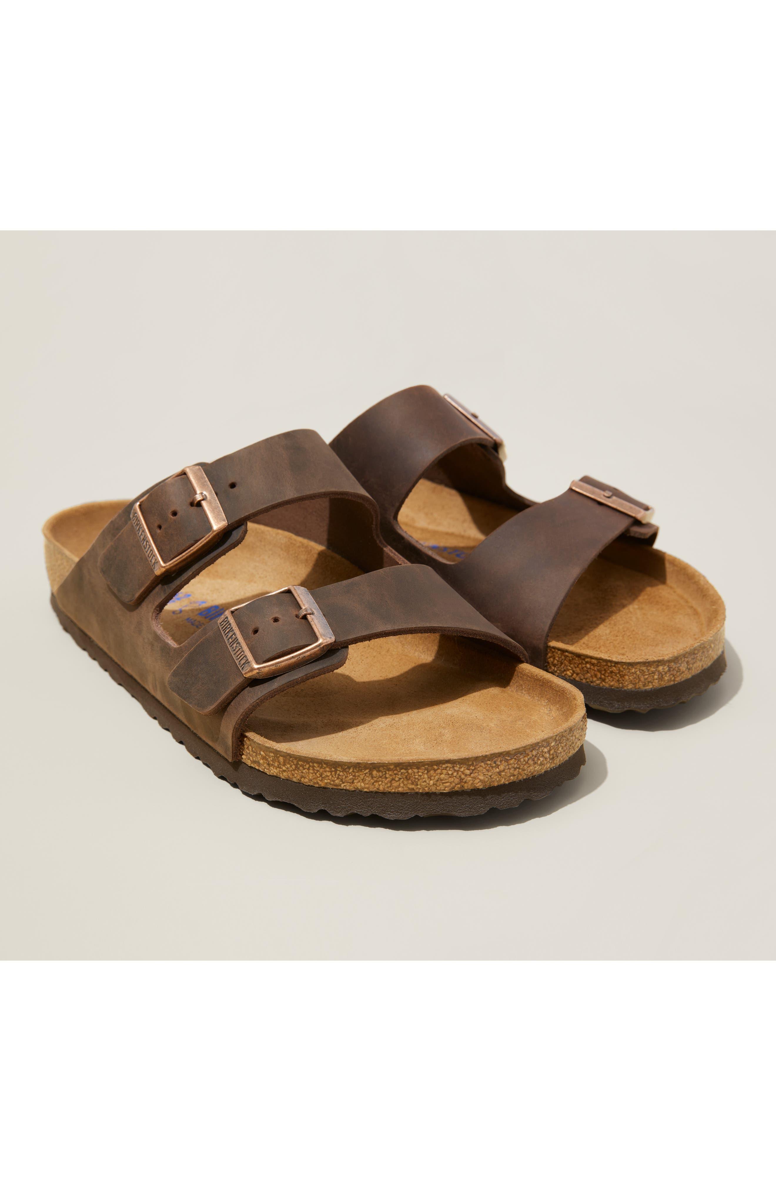 60s Mens Shoes | 70s Mens shoes – Platforms, Boots Mens Birkenstock Arizona Soft Slide Sandal Size 8-8.5US  41EU D - Brown $134.95 AT vintagedancer.com