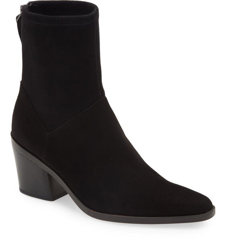27 EDIT Berkley Block Heel Bootie, Main, color, BLACK SUEDE
