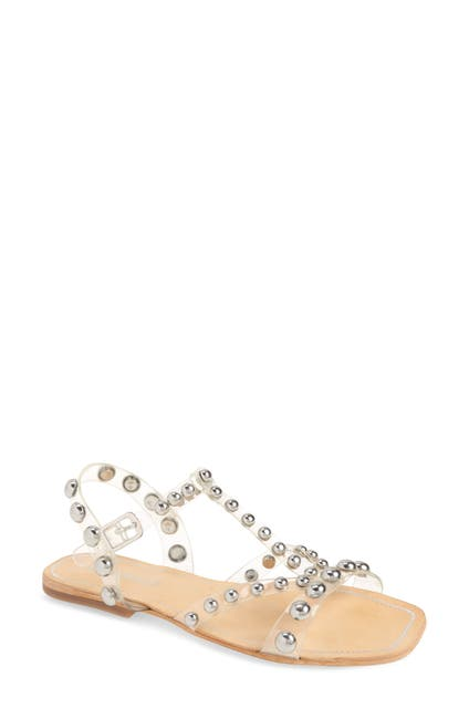 Image of Jeffrey Campbell Amaryl Studded Clear Sandal