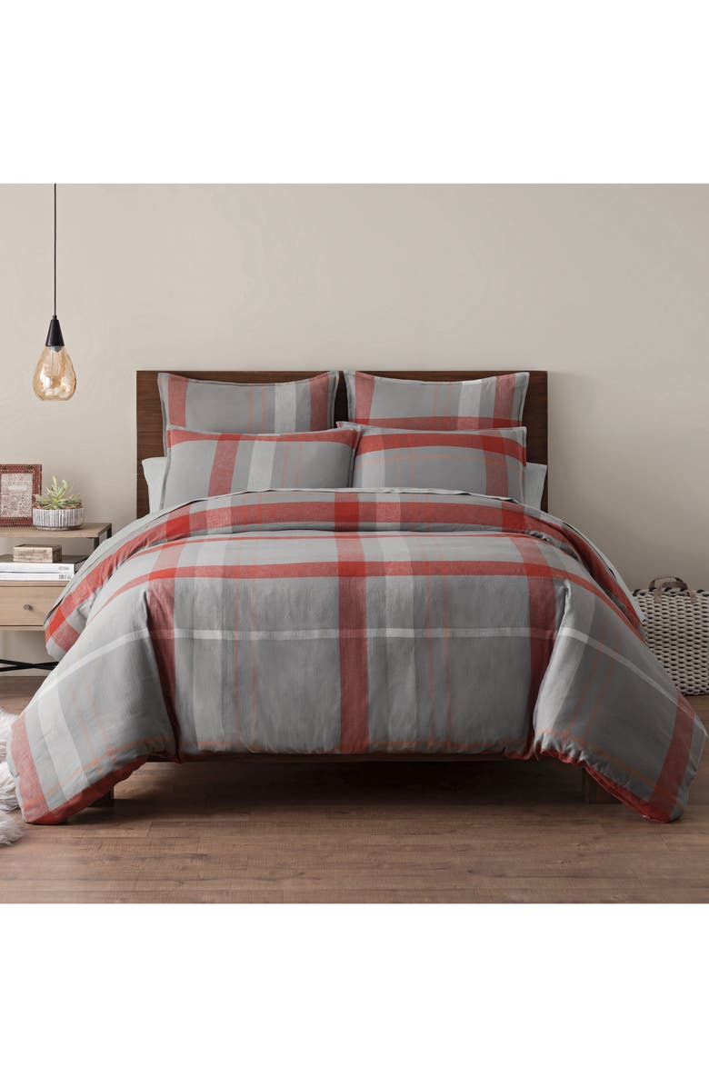 UGG<SUP>®</SUP> Winter Plaid Duvet Cover, Main, color, 020