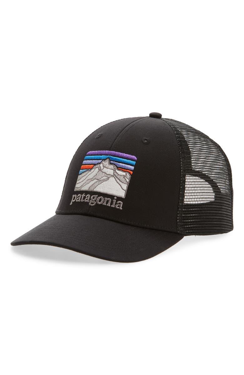 PATAGONIA Ridge Lopro Trucker Hat, Main, color, BLACK