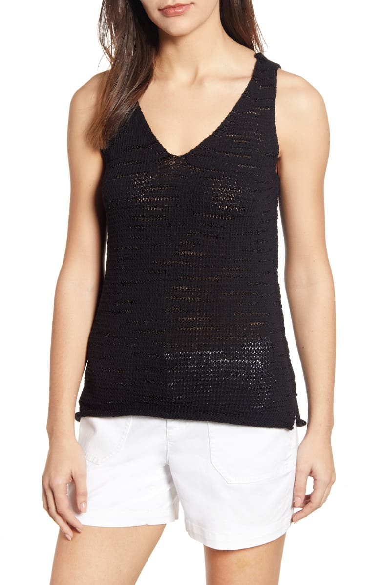 CASLON<SUP>®</SUP> Sweater Tank Top, Main, color, 001