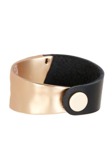 Image of Saachi Black Gold Wild Ways Leather Bracelet