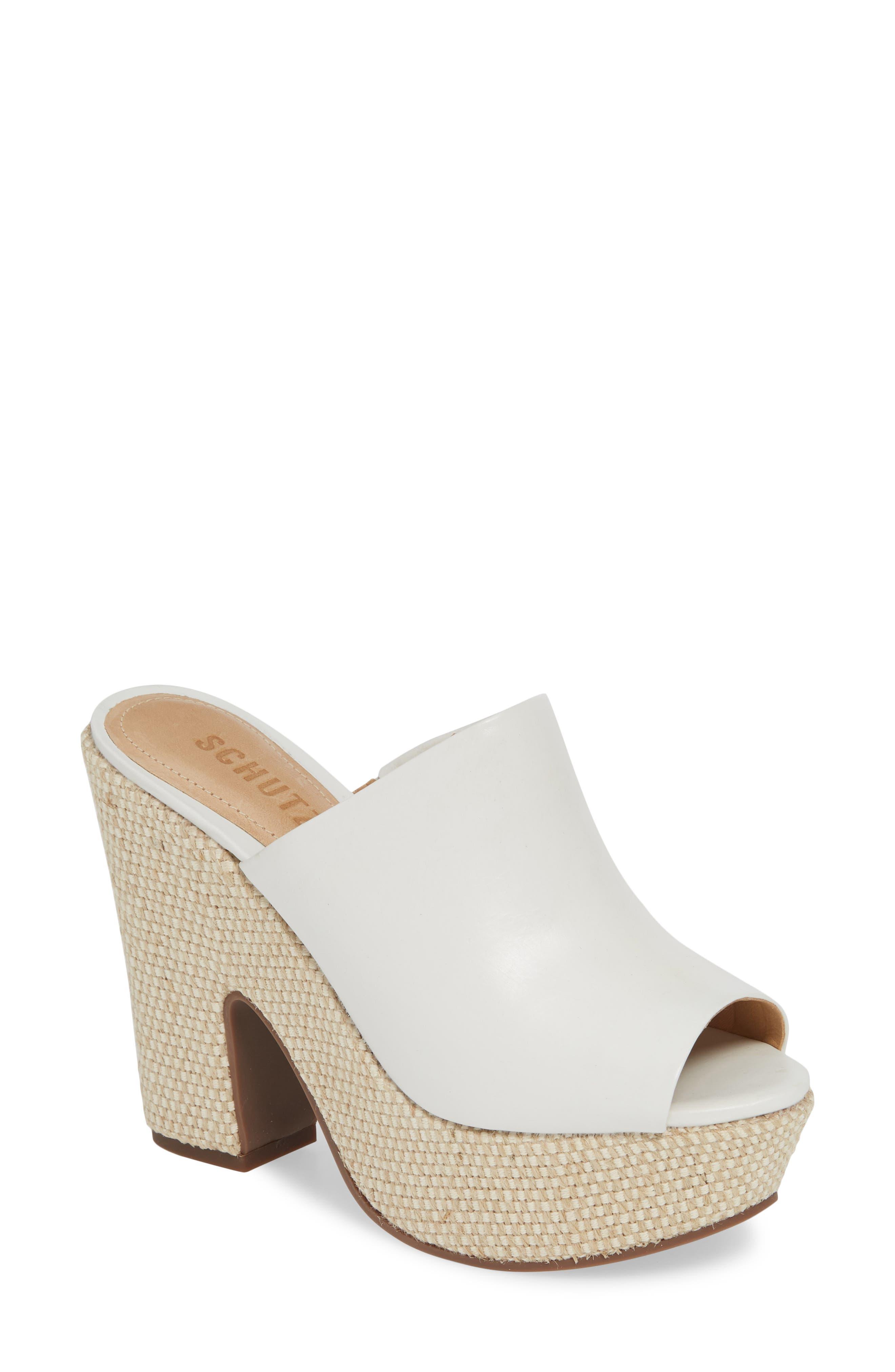 Schutz Dandara Platform Slide Sandal- White