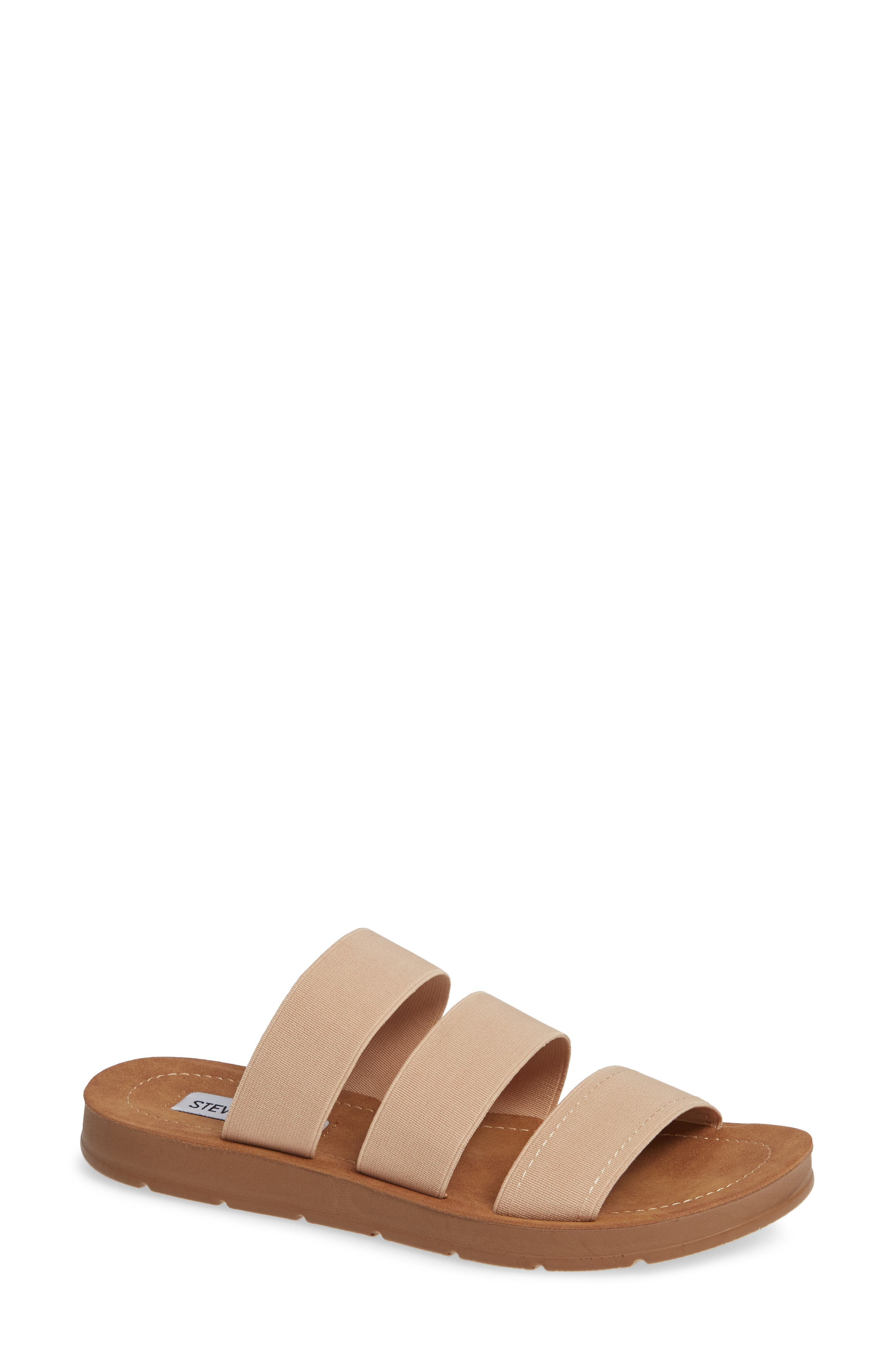Pascale Slide Sandal, Main, color, BLUSH FABRIC