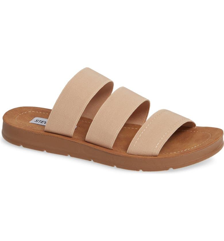 STEVE MADDEN Pascale Slide Sandal, Main, color, BLUSH FABRIC