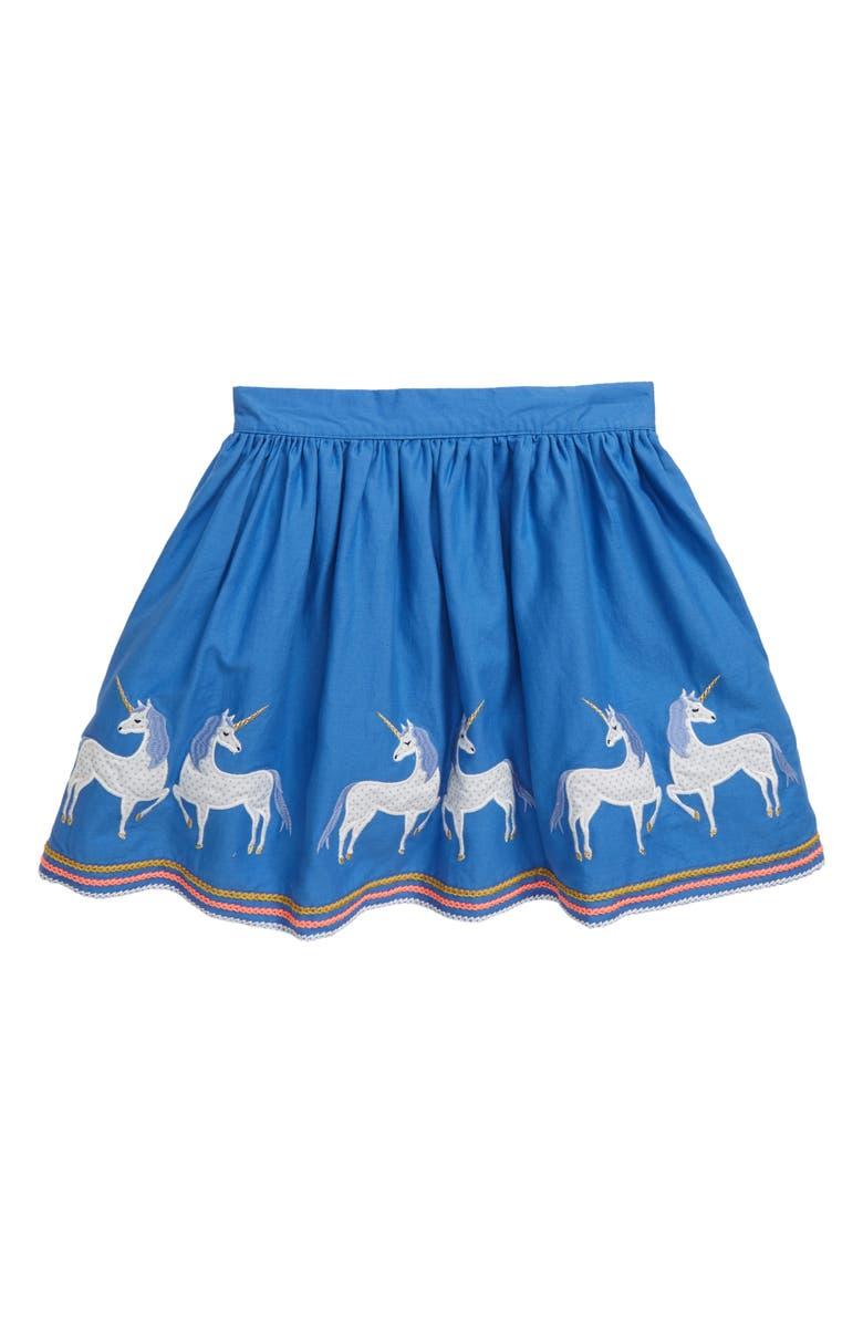 MINI BODEN Appliqué Hem Skirt, Main, color, 424