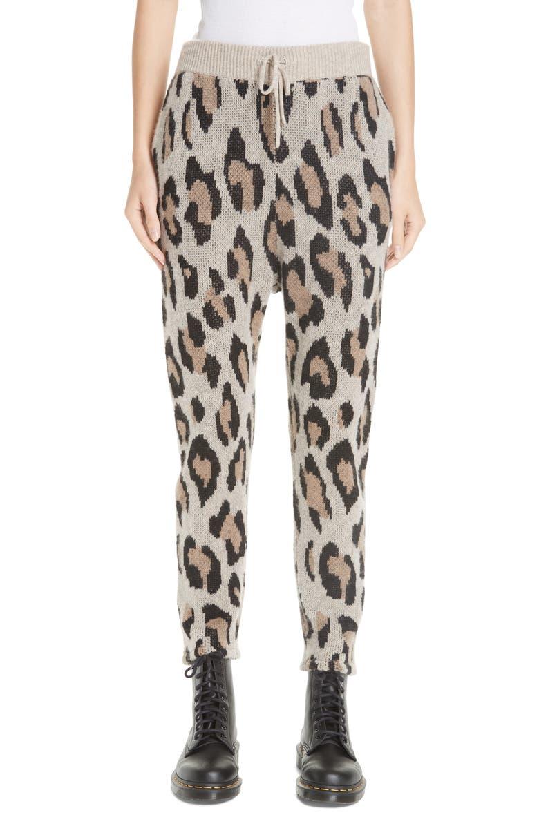 R13 Leopard Jacquard Cashmere Pants