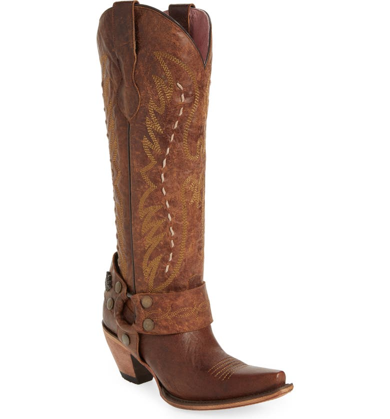 LANE BOOTS x Junk Gypsy Vagabond Harness Boot, Main, color, BROWN LEATHER
