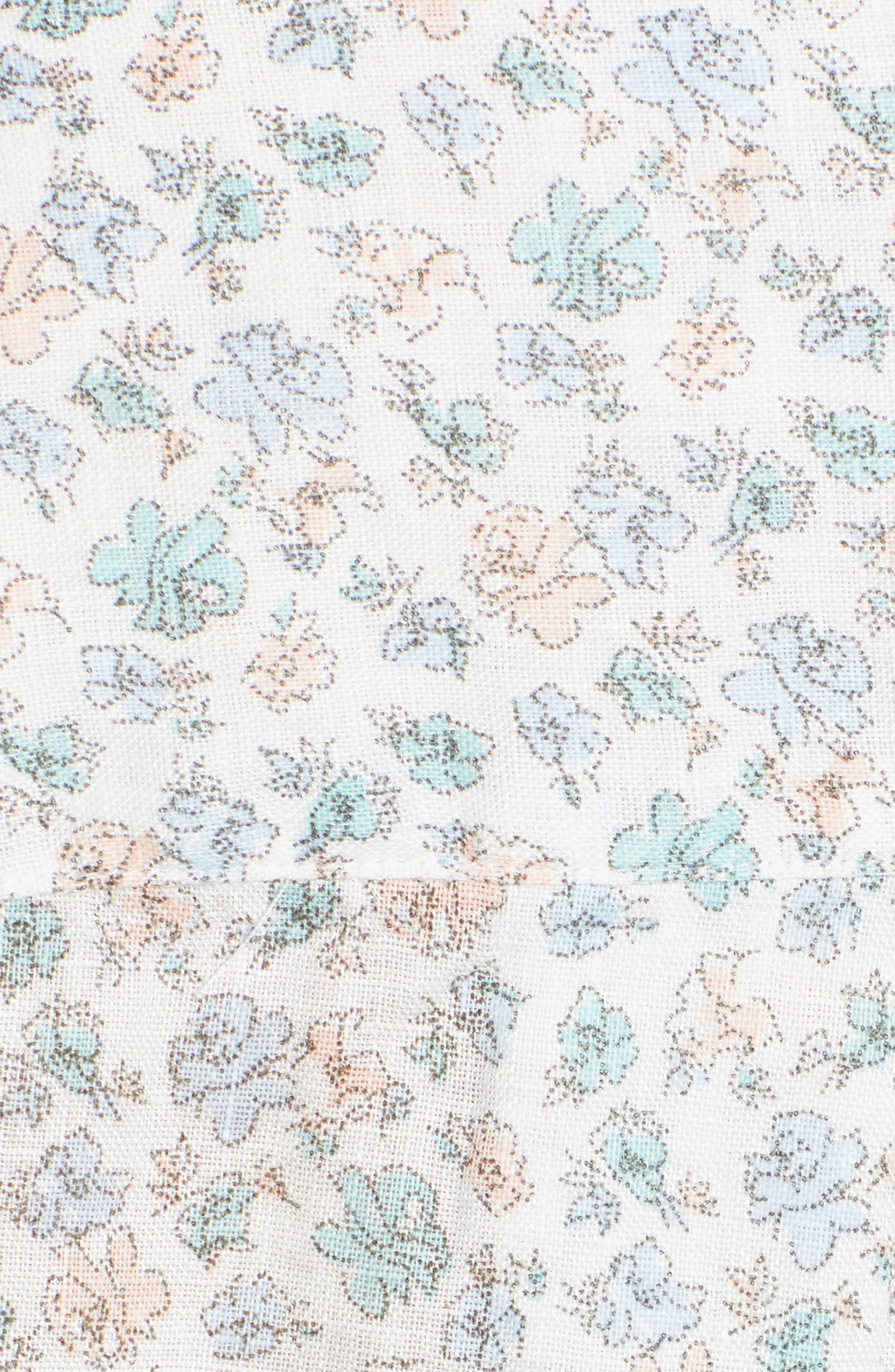 ,                             The Hero Print Tumbled Linen Shirt,                             Alternate thumbnail 5, color,                             CHARLOTTE BLUE MULTI FLOWER