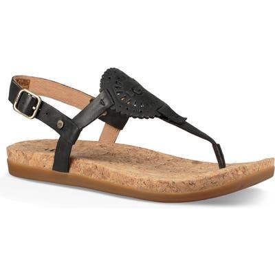 UGG Ayden Ii T-Strap Sandal, Black