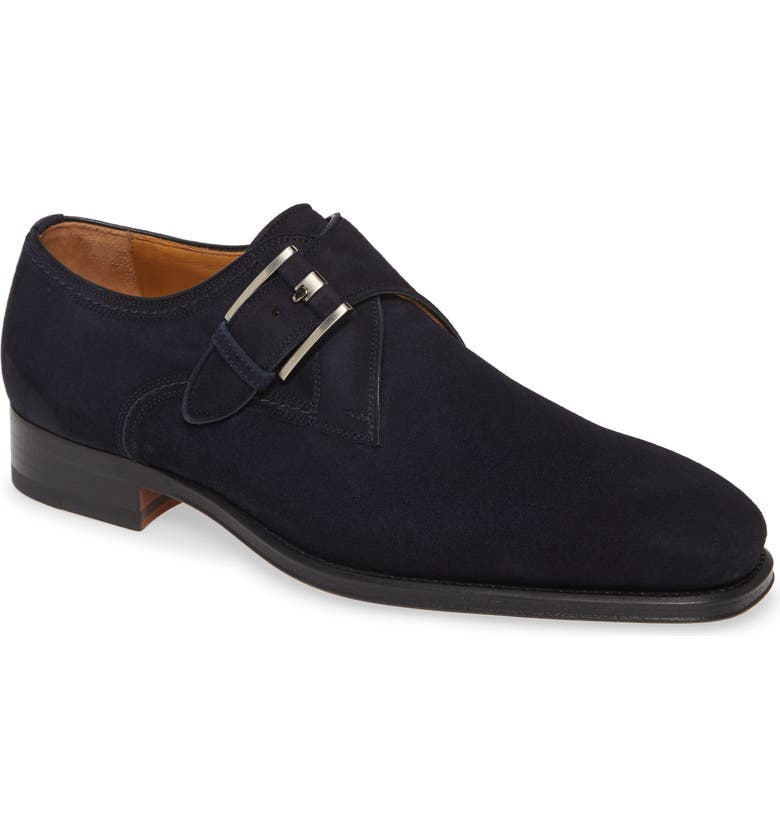 MAGNANNI Marco II Monk Strap Shoe, Main, color, NAVY