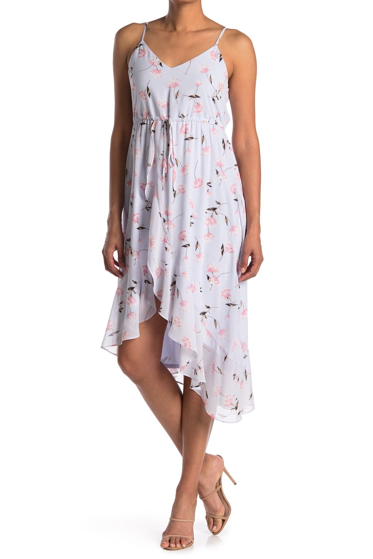 Image of 19 Cooper Floral Ruffle A-Line Dress