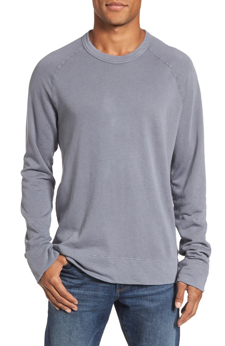 JAMES PERSE Raglan Crewneck Sweatshirt, Main, color, NORTH PIGMENT