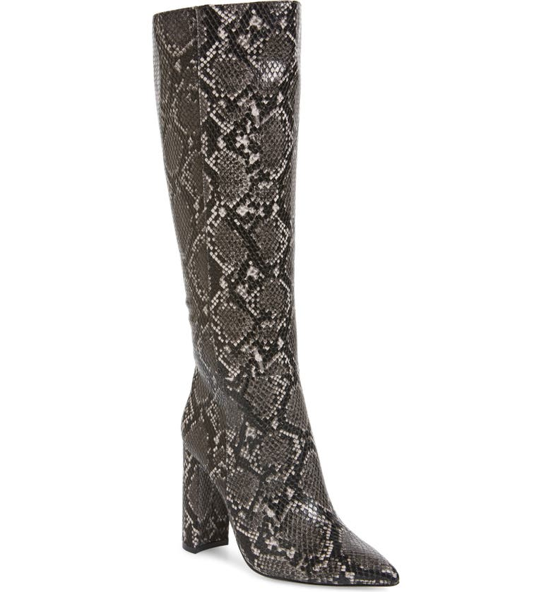 STEVE MADDEN Triumph Knee High Boot, Main, color, GREY SNAKE PRINT