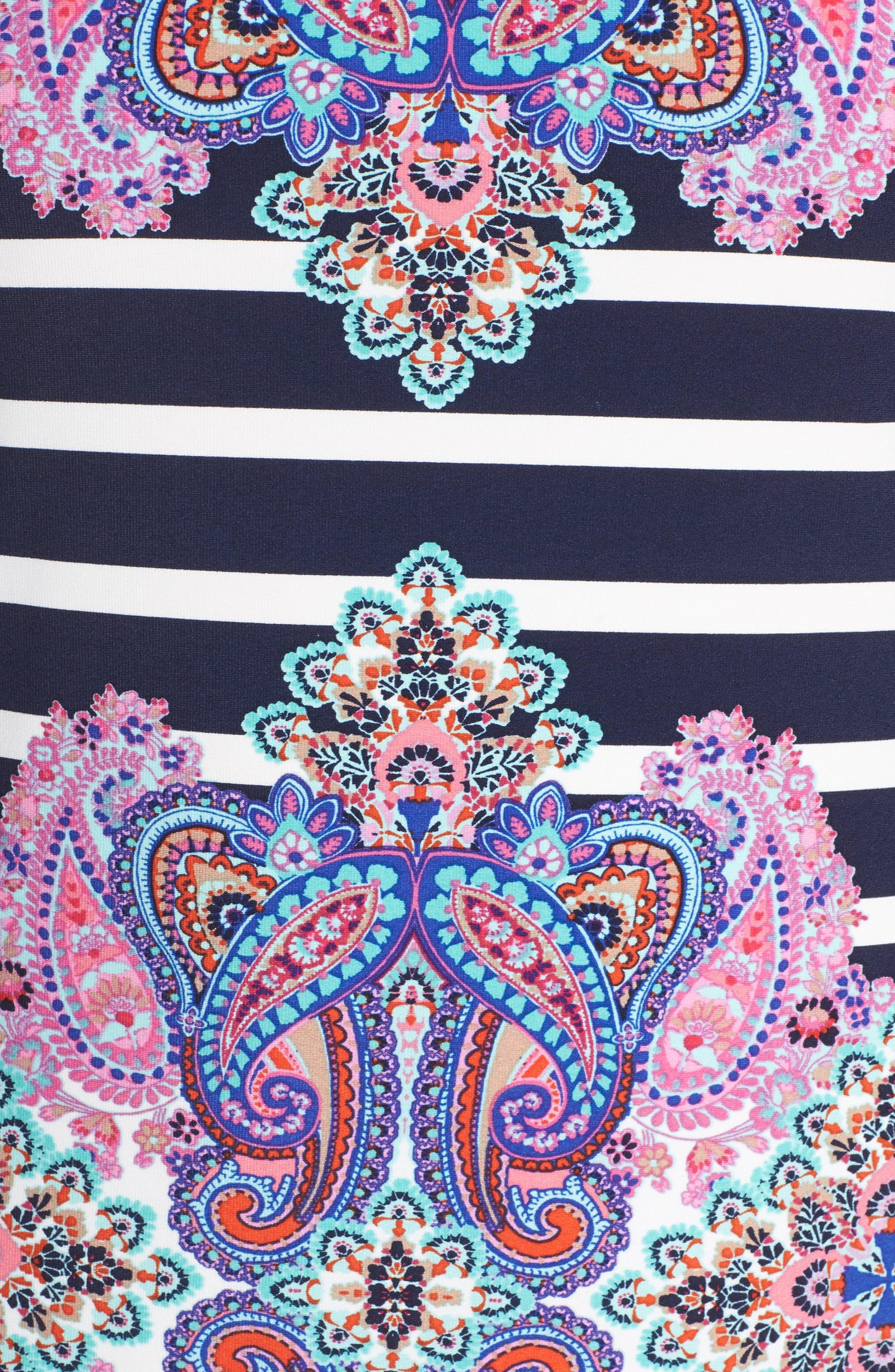 ,                             Stripe & Paisley Shift Dress,                             Alternate thumbnail 5, color,                             698