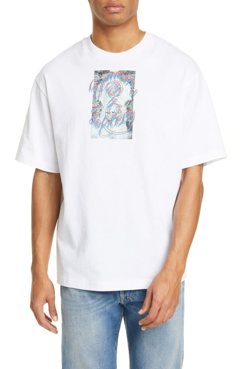 ACNE STUDIOS Extorr Solstice Graphic Tee, Main, color, OPTIC WHITE