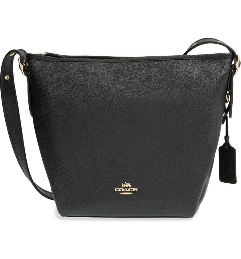 moderate cost shop for original top-rated professional 'Dufflette' Pebbled Leather Shoulder Bag