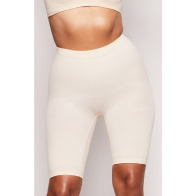 Plus Size Skims Sculpting Seamless Above The Knee Shorts, X/5X - Beige