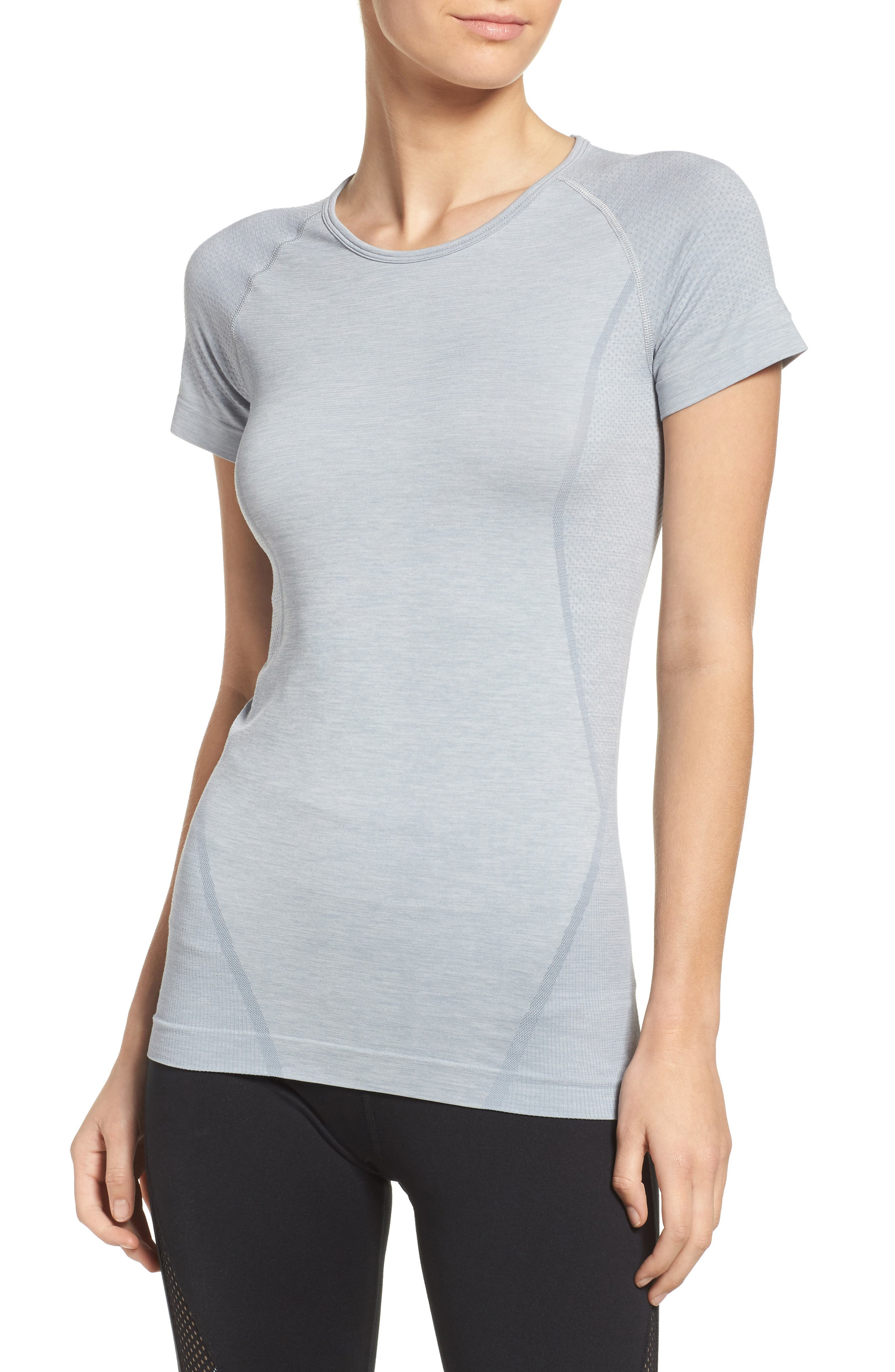 ,                             Stand Out Seamless Training Tee,                             Main thumbnail 56, color,                             030