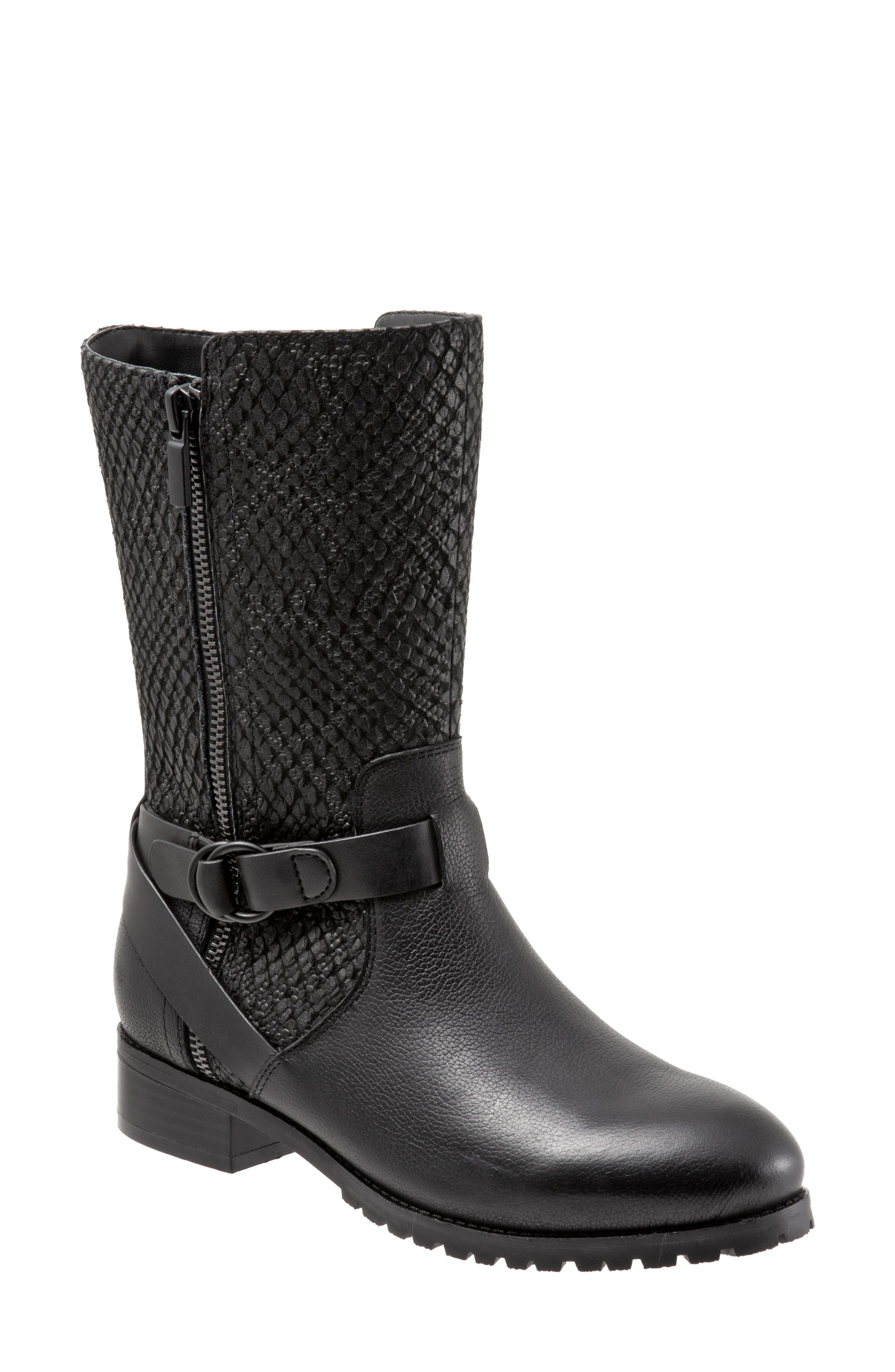 Marlowe Boot, Main, color, BLACK REPTILE LEATHER