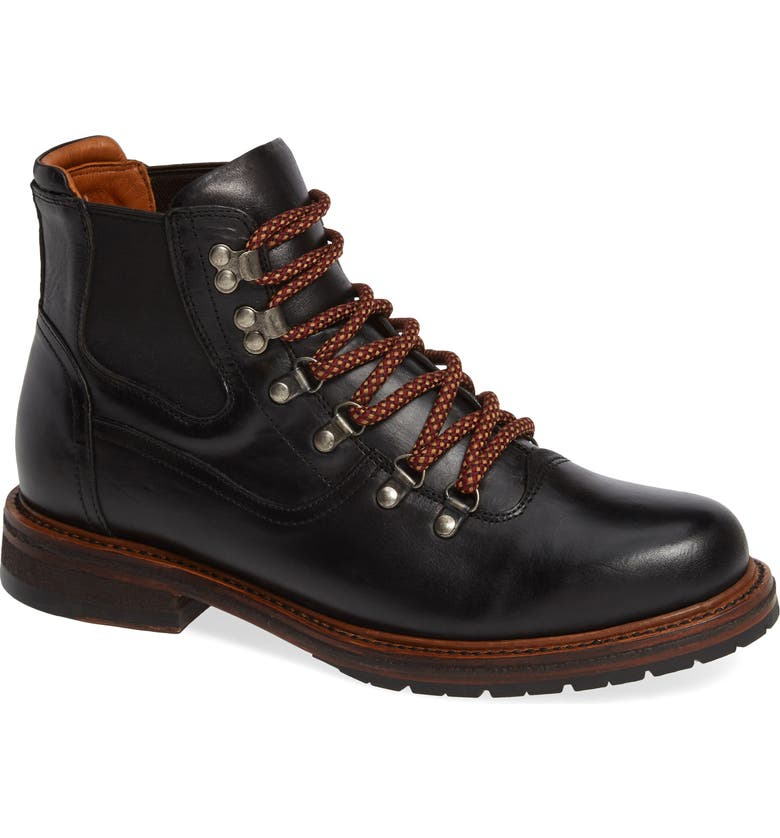 TWO24 by Ariat Hudson Mid Boot, Main, color, BLACK LEATHER