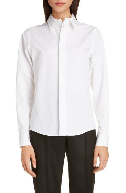 Balenciaga Shirts LOGO EMBROIDERED POPLIN SHIRT