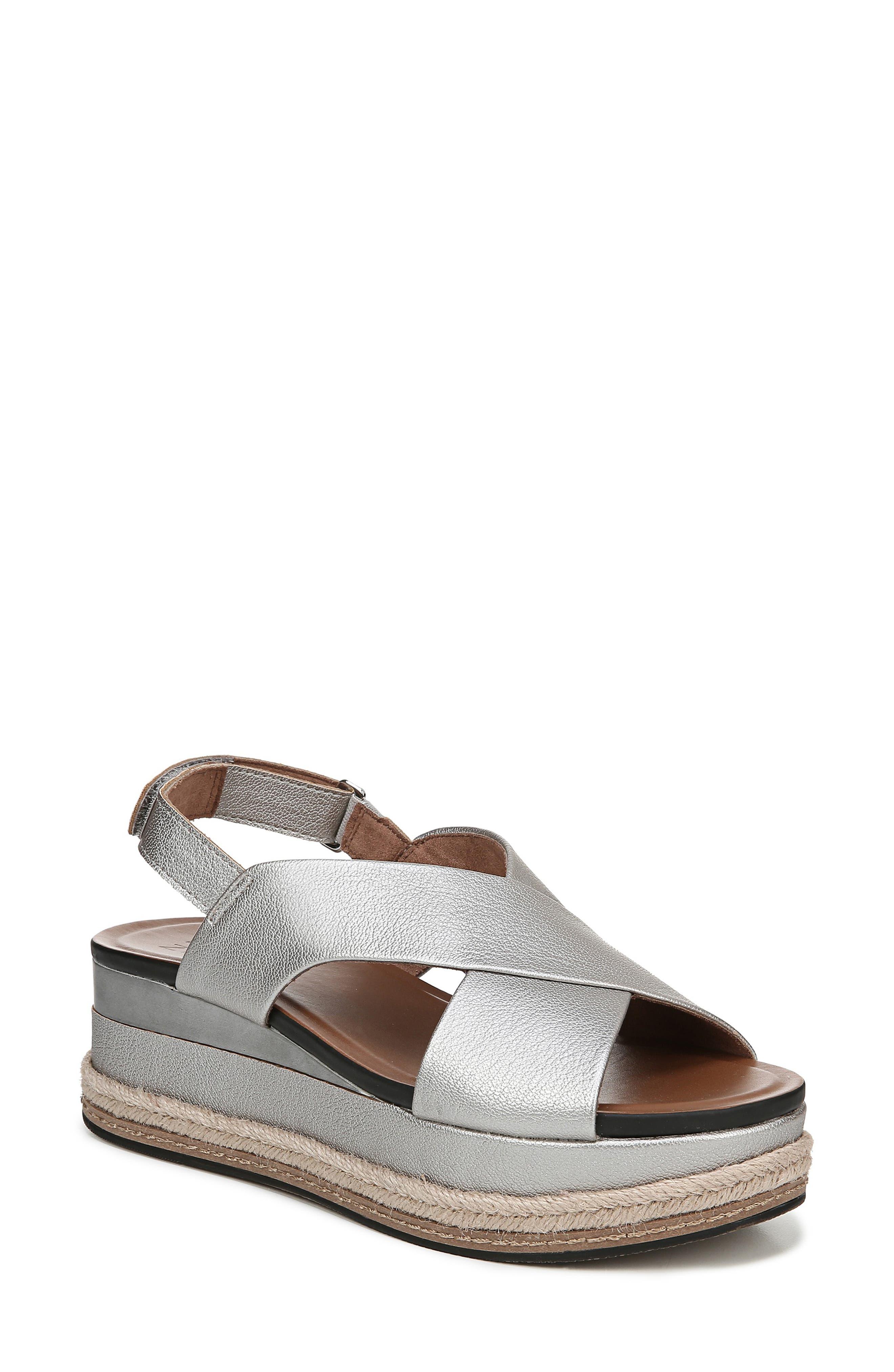 Naturalizer Baya Espadrille Wedge Sandal, Metallic