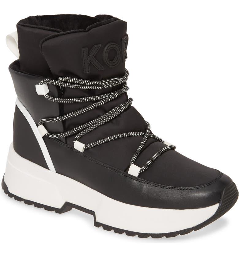 MICHAEL MICHAEL KORS Cassia Sneaker Boot, Main, color, BLACK MULTI