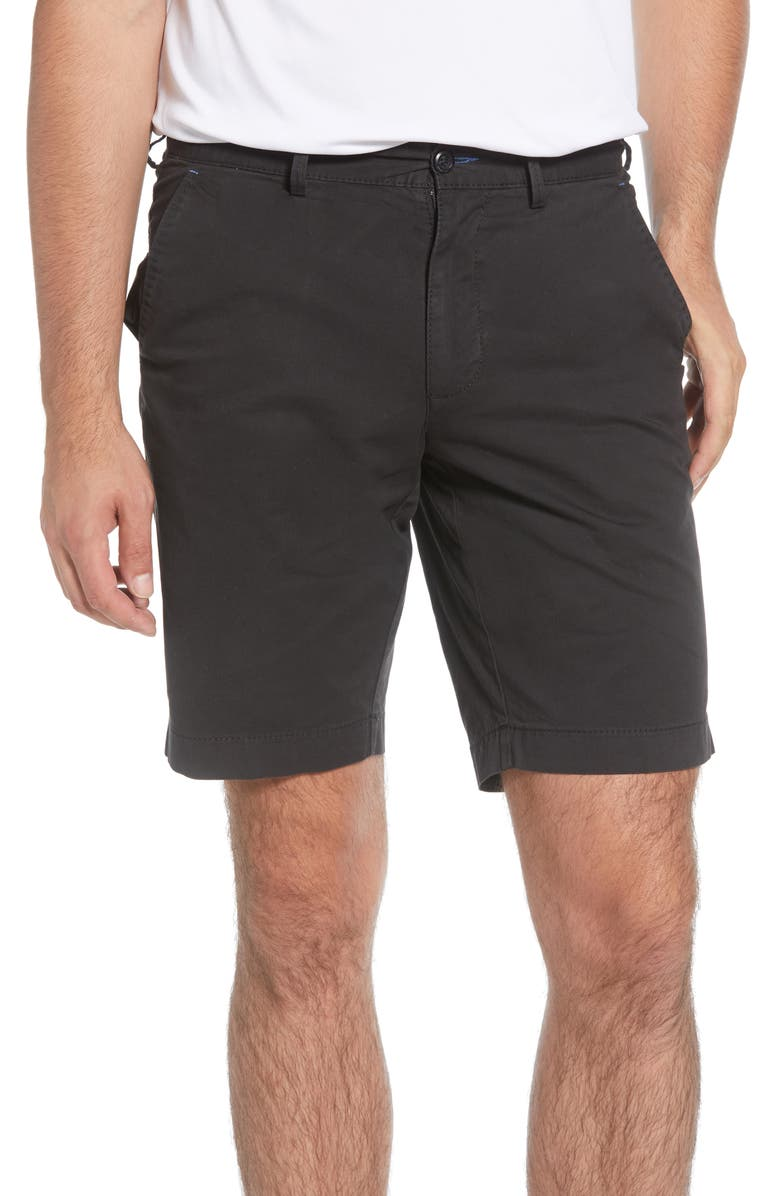 BRAX Belleville Regular Fit Flat Front Stretch Cotton Bermuda Shorts, Main, color, 001