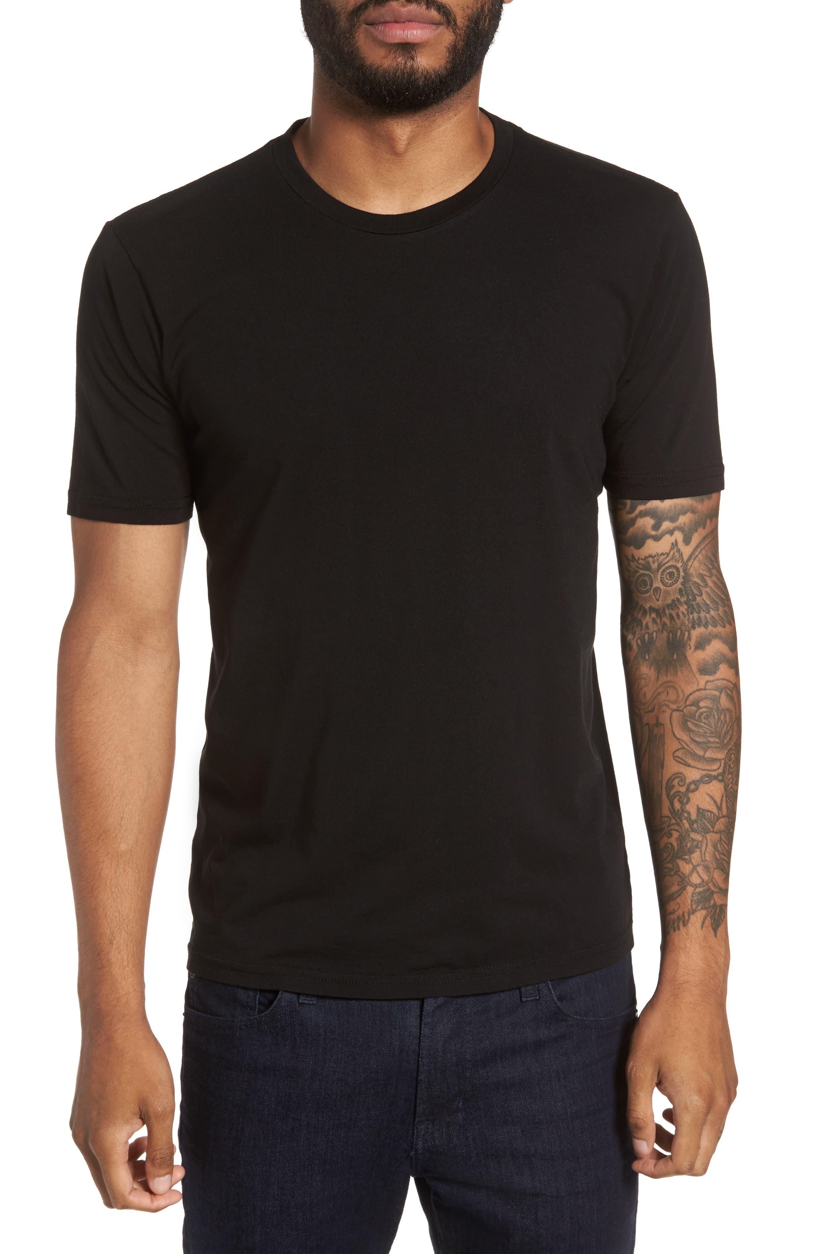 Classic Supima Cotton Blend Crewneck T-Shirt