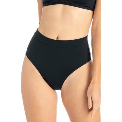 Tavik Pernille High Waist Bikini Bottoms, Black