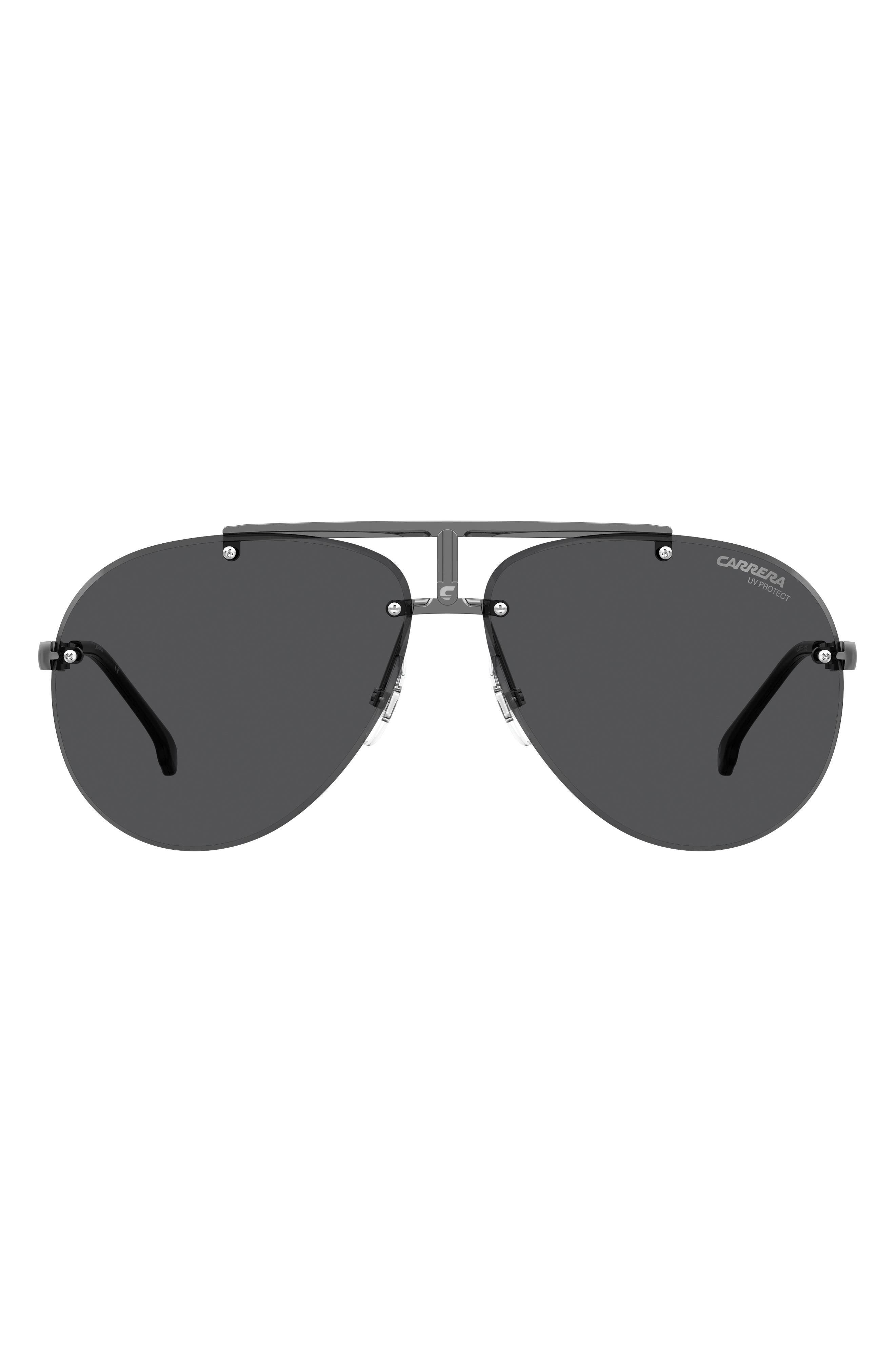 62mm Rimless Aviator Sunglasses