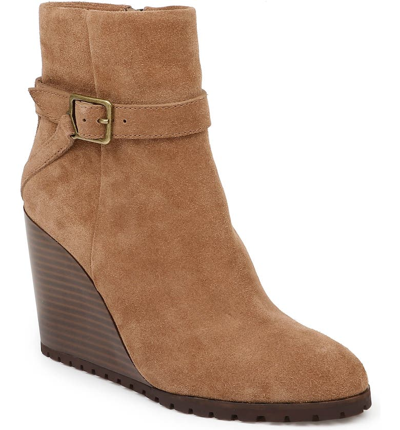 SPLENDID Pascal Wedge Bootie, Main, color, LIGHT BROWN SUEDE