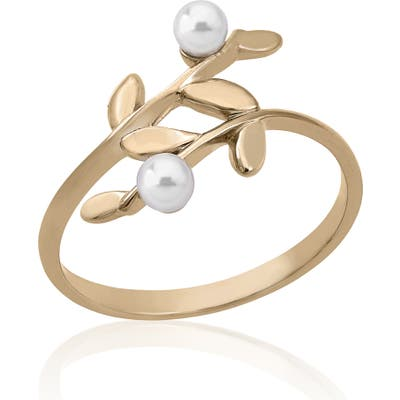 Majorica Simulated Pearl Wraparound Ring