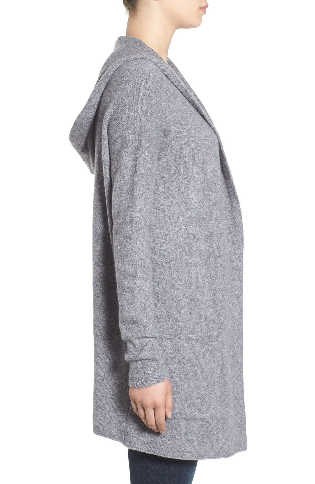 ,                             Hooded Longline Cardigan,                             Alternate thumbnail 2, color,                             030