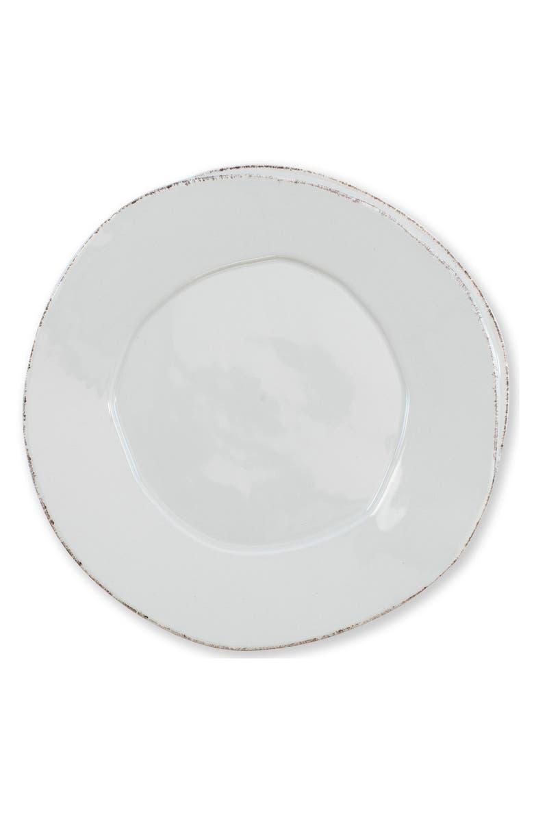 VIETRI Lastra Stoneware Dinner Plate, Main, color, LIGHT GRAY