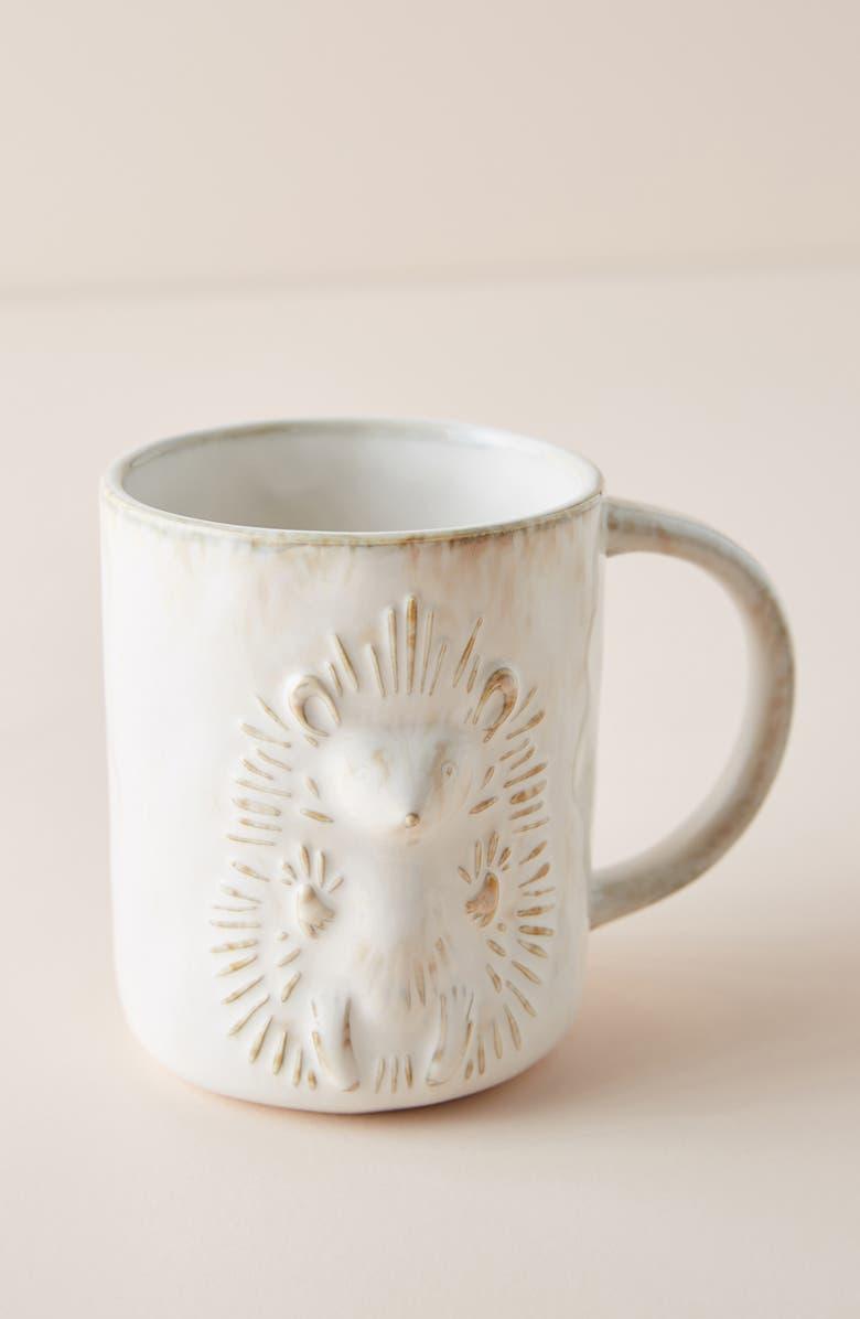 ANTHROPOLOGIE Kylo Hedgehog Mug, Main, color, CREAM