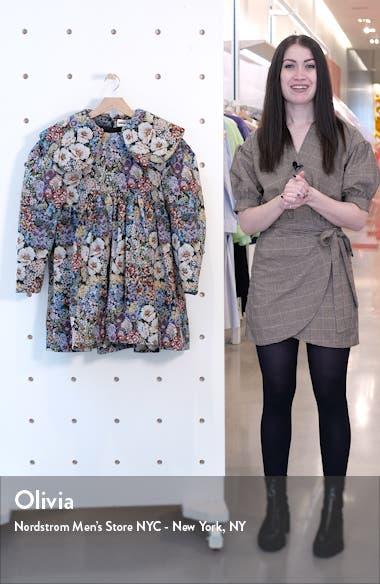 Long Sleeve Tapestry Minidress, sales video thumbnail
