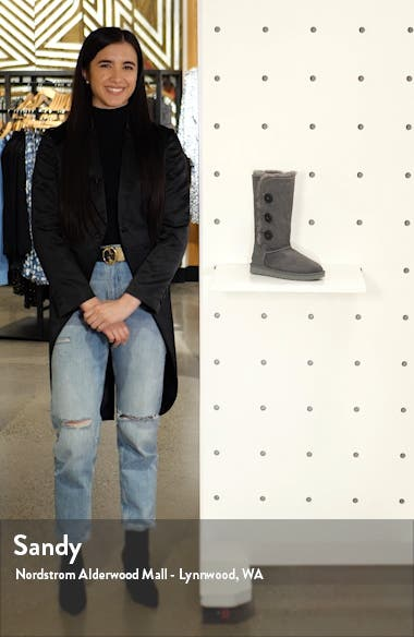 Bailey Button Triplet II Genuine Shearling Boot, sales video thumbnail