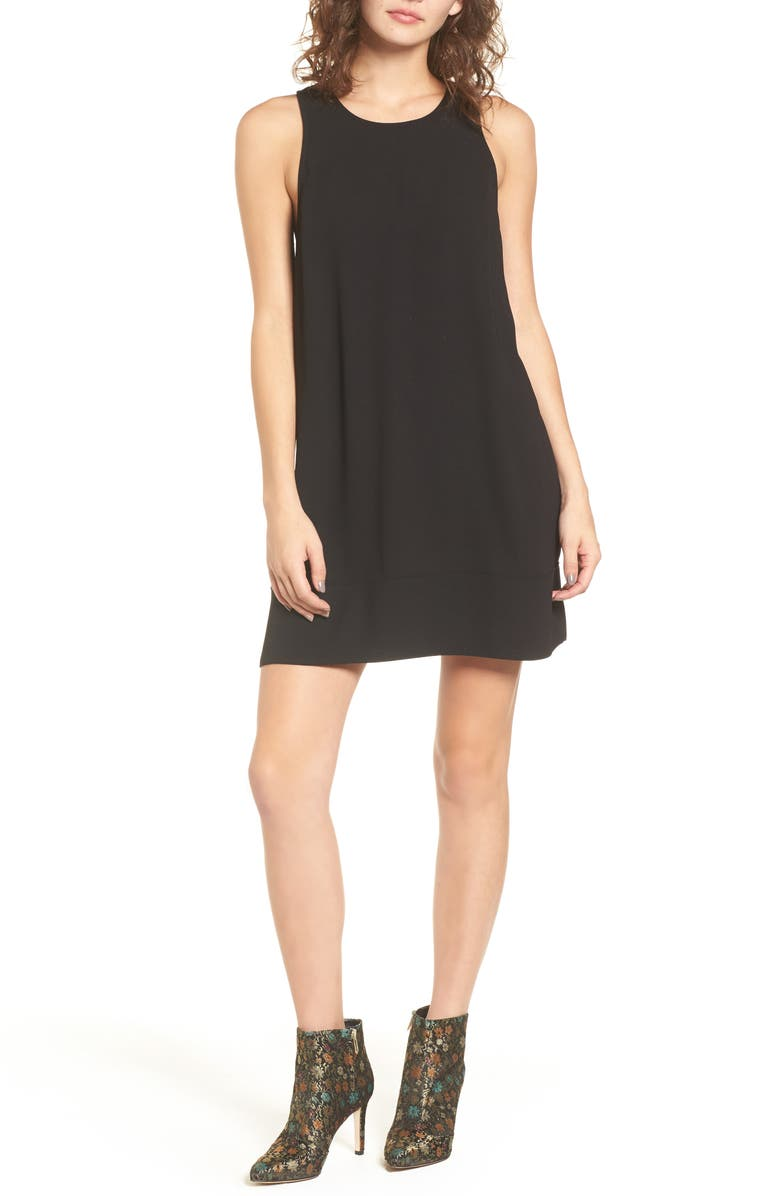 LEITH Racerback Shift Dress, Main, color, 001