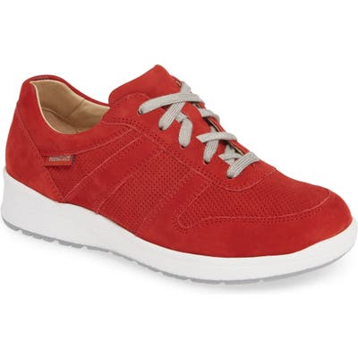 Mephisto Rebecca Perforated Sneaker, Red