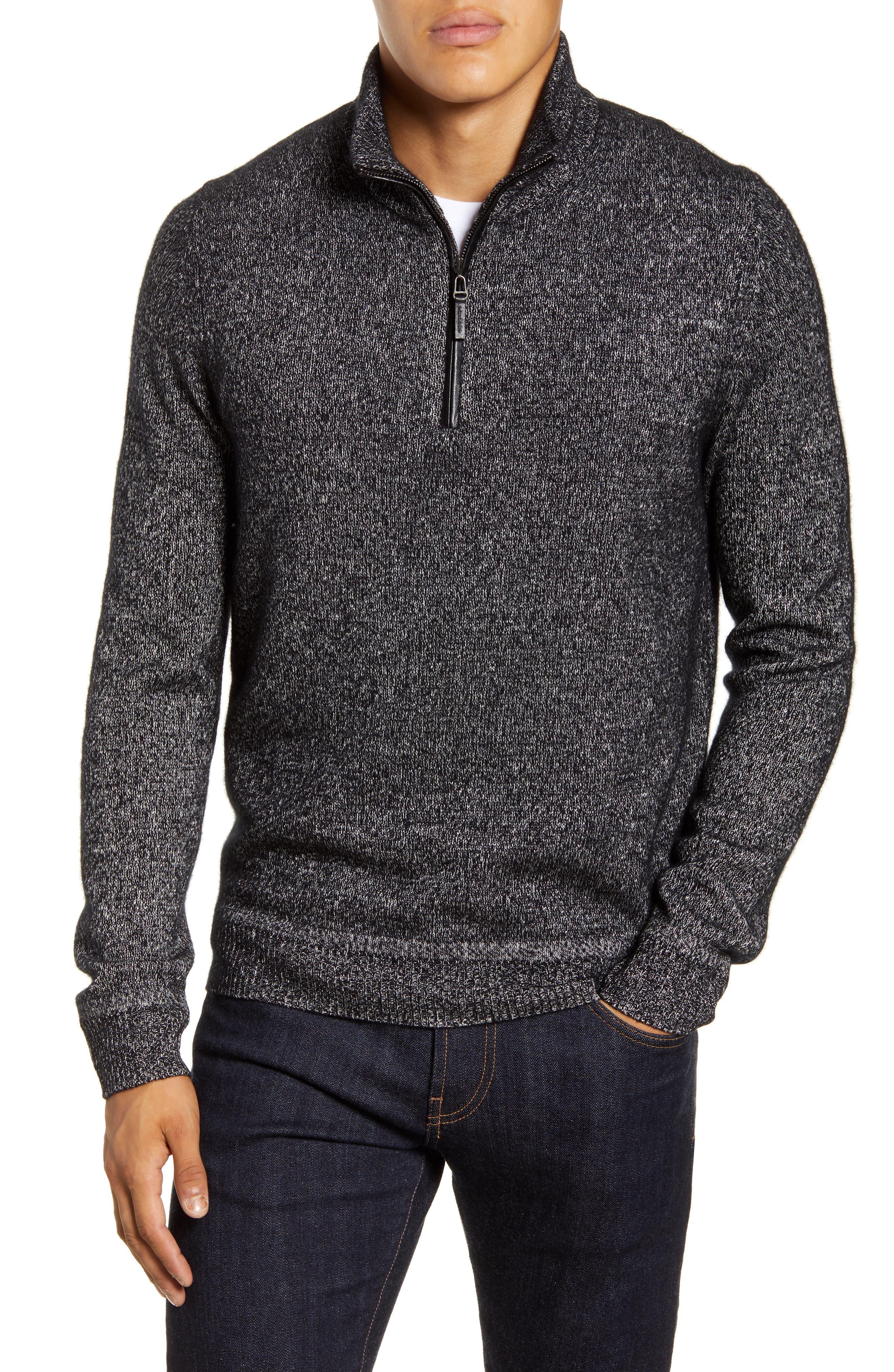 Cashmere \u0026 Silk Quarter Zip Sweater