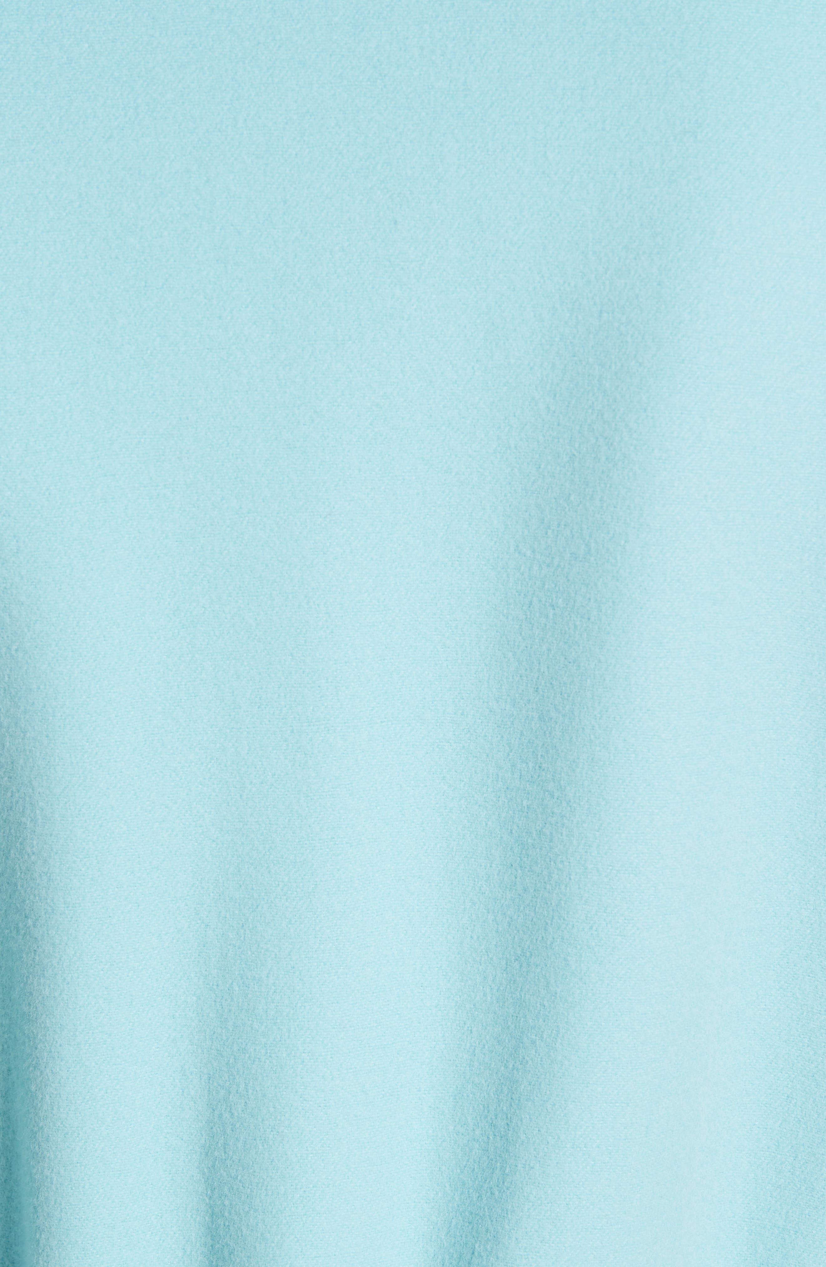 ,                             Double Face Wool & Cashmere Jacket,                             Alternate thumbnail 6, color,                             AQUAMARINE